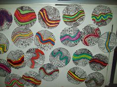 Grade 1 line art lesson.