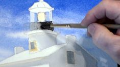 How to Paint a Lighthouse in Watercolor - Step 5: The Light