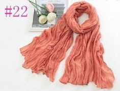 New-Women-Long-Big-Crinkle-Voile-Soft-Scarf-Wrap-Shawl-Stole-Pure-Candy-22