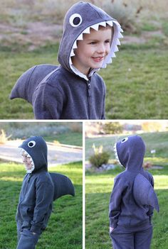 Simple Shark (with Dorsal Fin) | Click for 30 DIY Halloween Costumes for Kids to Make | DIY Halloween Costumes for Toddlers
