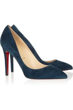Christian Louboutin Pigalles in teal and red
