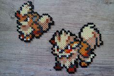 058 Caninos / Growlithe 059 Arcanin / Arcanine - Perler Beads by Vicsene
