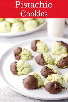 This is my delicious, melt in your mouth, moist, soft cream cheese pistachio cookies recipe for everyone to enjoy. They are my most requested cookie and so addicting! #cookies #holidaycookies #pistachio #dishesdelish Keto Cookies, Yummy Cookies, Cookies Et Biscuits, Cheese Cookies, Pistachio Dessert, Pistachio Cookies, Pistachio Recipes, Pistachio Cream, Chocolate Cookie Dough