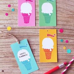 free ice cream tags
