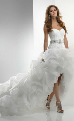 Beach Wedding Dresses Hi Lo Wedding Dress Sweetheart Corset Lace ...