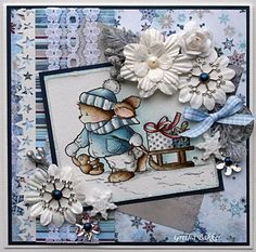 Het kaartenhoekje van Gretha Photo Om, Card Tags, I Card, Holiday Cards, Christmas Cards, Copic Markers, Cute Cards, Christmas Themes, Stampin Up