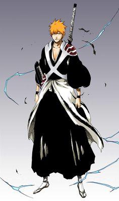 bleach ichigo new shinigami form - Bing images Bleach Manga, Bleach Ichigo Bankai, Bleach Drawing, Bleach Fanart, Shinigami, Bleach Figures, Bleach Tattoo, Manga Anime, Anime Art