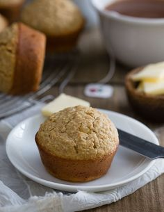 These Irish brown bread muffins have all the flavor of the traditional Irish bread in muffin form. Add the optional candied ginger for a nice subtle texture and bite. Irish Brown Bread, Irish Bread, Muffin Recipes, Baking Recipes, Breakfast Recipes, Savory Breakfast, Brunch Recipes, Chocolate Cookie Recipes, Cupcakes