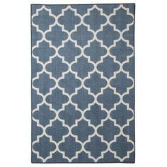 threshold fretwork rug blue geometric rug at target
