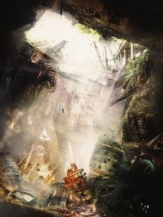 New Geographies / Mega Ruin / image by James Leng for Hashim Sarkis's class at GSD