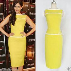 yellow bodycon dress size 8 live