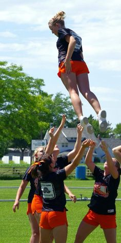 Full down...Cheer leading IS a sport!