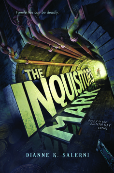 The Inquisitor's Mark by Dianne Salerni is the second book in the Eighth Day series. It picks up where the last book left off, and Jax, . The Eighth Day, Day Book, Used Books, Photo Manipulation, Author, Reading, Fantasy Series, King Arthur, Merlin