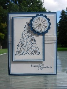 more swirled stampin card snow pomegranate christmas snow snow swirled ...