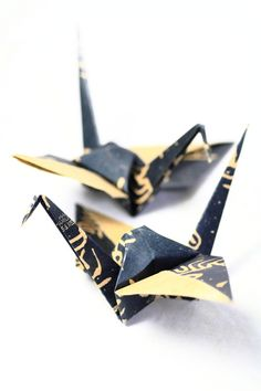 Origami Cranes - love the paper they used!