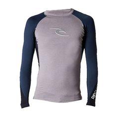 120db4bf4371c Camiseta Lycra Wave Grey Rip Curl é de estilo Surf, com 50 vezes mais  proteção contra raios UV. A peça proporciona conforto, maciez, leveza e  liberdade de ...