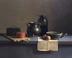 Henk Helmantel, Still life with various objects on a table