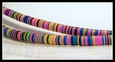 Beads-African beads-tribal beads-vinyl by CelestialLuxuries