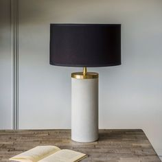 Ernst Marble And Metal Table Lamp