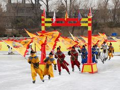 Feb 10, 2013 Chinese folk artists perform a play on ice during the Spring Festival Temple Fair on Sunday in Beijing, China. They celebrate the beginning of the Year of the Snake in the Lunar calendar.