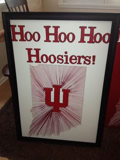 Indiana Hoosiers 24x36 inch Framed in the color by TheWineWorkshop, $125.00