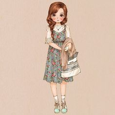 #dailylook #girlish #romantic #datelook #fashion #springfashion #girl #longhair #style #mint #onepiece #flowerpattern #illust #illustration #drawing #sketch #aeppol #데일리룩 #옷 #패션 #일러스트 #일러스트레이션 #애뽈
