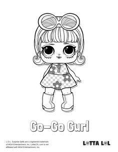 Go Gurl Coloring Page Lotta LOL