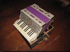 Purple Antique Accordion