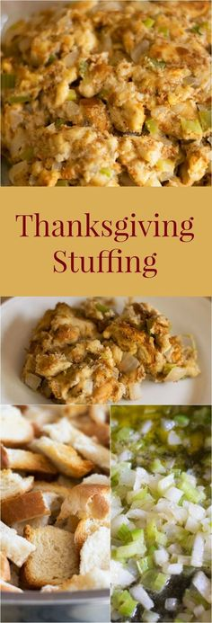 Thanksgiving Stuffing Moist and delicious stuffing just the way my Nana makes it. More from my site Make Ahead Turkey Gravy for Thanksgiving Pumpkin Pie Twists Thanksgiving Stuffing Recipe 10 Minute Spinach Dip Stuffing Recipes For Thanksgiving, Thanksgiving Side Dishes, Thanksgiving Turkey, Thanksgiving Treats, Bread Stuffing For Turkey, Baked Stuffing, Make Ahead Stuffing, Thanksgiving Dressing, Side Dishes