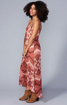 Turlington Maxi Dress ~ Happy Henna