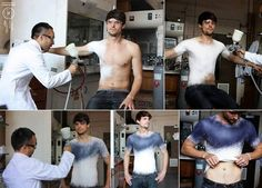 A spray on shirt that can be removed and washed.