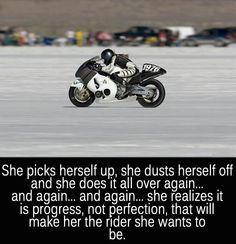 Motorcycles, horses or life- it is all about picking yourself up & going on @Bevvvvverly Wood (nice quote)