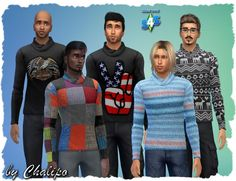 Warm sweaters for males at All 4 Sims • Sims 4 Updates