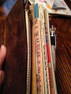 Midori Travelers Notebook leather Wallet Insert | von urbingirl