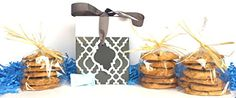 COOKIE GIFT CAN QUEEN CHOCOLATE CHIP COOKIE WELCOME BABY BOY TRELLIS GIFT BOX WITH HOT STUFF BLUE FILL * You can get more details by clicking on the image.