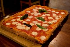 Old-fashioned square pizza, Luzzo's by gsz, via Flickr