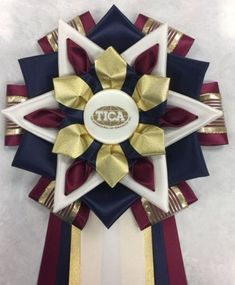 View our collection of ribbons and rosettes available in accents including floral, patterned, glittery golds, silvers and more. Ribbon Rosettes, Ribbons, Birthday Pins, Diy Ideas, Craft Ideas, Homecoming Mums, Centaur, Ponies, Festivals