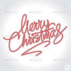 Merry Christmas Hand Lettering (vector) — JPG Image #typography #retro • Available here → https://graphicriver.net/item/merry-christmas-hand-lettering-vector/626981?ref=pxcr