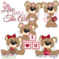 Cute Cupid Bears SVG-MTC-PNG plus JPG Cut Out Sheet(s) Our sets also include clipart in these formats: PNG & JPG