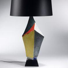 Guido Gambone - Ceramic table lamp, circa 196à