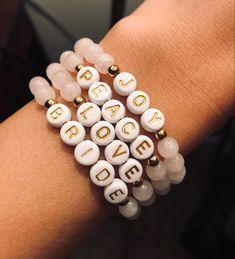 Sister Bracelet, Bracelet Set, Bracelet Making, Word Bracelets, Beaded Bracelets, Holiday Messages, Fashion Beads, Sorority Gifts, Gifts Under 10