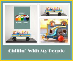 Bekijk dit items in mijn Etsy shop https://www.etsy.com/listing/476451068/vintage-fisher-price-chillin-with-my
