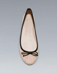 SOFT BALLERINA FLATS - Flats - Shoes - Woman - ZARA United States