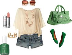 """Gold and Green"" by scoobadarling on Polyvore"