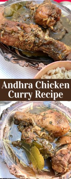 Andhra chicken curry (also known as Andhra kodi kura) is a hot, richly spiced dish that's beautifully balanced by gentle cinnamon and coconut milk sauce. There are some twists to the traditional dish in this recipe, but they all make for more accessible ingredients and even more depth to the flavor. #chickencurry #curry #spicycurry #andhrakodikura Cheesy Chicken Recipes, Healthy Chicken Recipes, Turkey Recipes, Spicy Recipes, Meat Recipes, Asian Recipes, Mexican Food Recipes, Spicy Steak, Spicy Meatballs