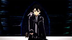 Ready for a Fight | Kirito | Sword Art Online II | #SAO2 | #anime | (gif)
