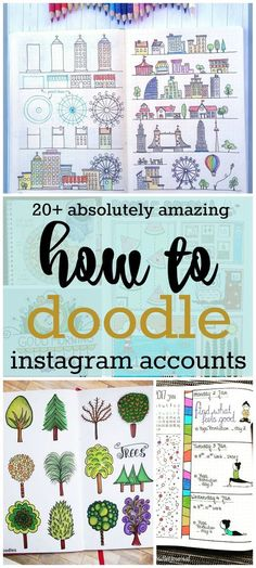 Bullet Journal Ideas: Absolutely Amazing How to Doodle Accounts to illustrate your journal and make it amazing Doodle Inspiration, Bullet Journal Inspiration, Journal Ideas, Doodle Drawings, Doodle Art, Journaling, Bujo Doodles, How To Doodles, Doodle Lettering