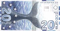 Shortlisted 20 € bill design by Erik Bruun