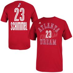 Shoni Schimmel adidas Women's Name & Number T-Shirt - Red - $16.99