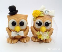 Owl wedding cake toppers!!!!